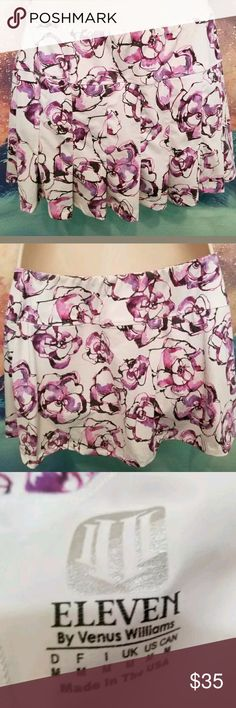 Eleven by Venus Williams Floral Tennis Skort Skirt Size Medium Excellent Condition Eleven Skirts