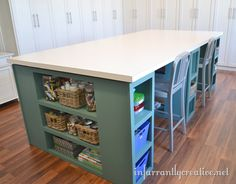 diy craft table - 4 walmart shelves and two doors | crafts to