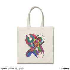 Shop Myriad Tote Bag created by Virtual_Dzines. Design Your Own, Abstract Art, Fashion Accessories, Reusable Tote Bags, Stitch, Gifts, Style, Swag, Full Stop