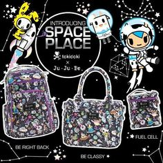 We're blasting off 2016 with a cosmically cute print! Featuring an all-star cast of characters from the tokidoki universe playing under a starry-skied night, our @tokidokibrand x @jujube_intl  Space Place collection is out of this world. Available now: http://shop.tokidoki.it/bags/tokidoki-x-ju-ju-be #tokidoki #tokidokibrand #tokidoki10ve #jujube #spaceplace #space #collaboration #tokidokispace