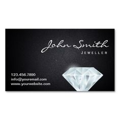 308 best jeweler business cards images on pinterest business cards classy diamond jeweller dark business card colourmoves