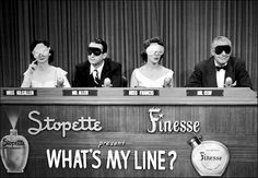 """What's My Line? is a panel game show which originally ran in the United States on the CBS Television Network from 1950 to 1967It is the longest-running U.S. primetime network television game-show (51st show). Moderated by John Charles Daly and with panelists Dorothy Kilgallen, Arlene Francis, and Bennett Cerf, What's My Line? won three Emmy Awards for """"Best Quiz or Audience Participation Show,"""" in 1952, 1953, and 1958 and the Golden Globe for Best TV Show in 1962."""