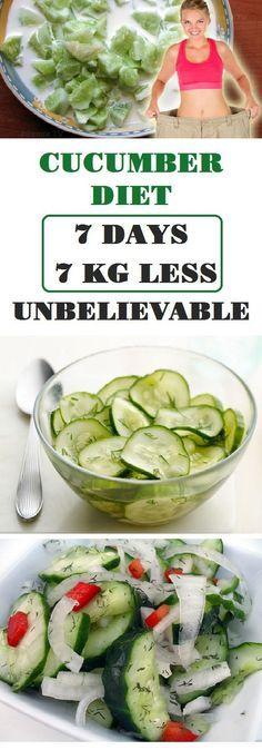 Cucumber Diet – 7 Days – 7 Kg Less