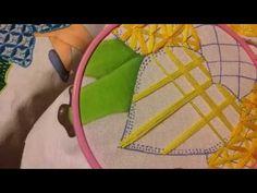 bordado fantasia zigzag de colores - YouTube