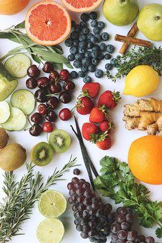Infusing Water with Herbs, Spices, Botanicals, Fruit & Vegetables! mint • basil • rosemary • lavender • thyme • ginger • cinnamon • sage • rose petals • vanilla • lemongrass • cardamom • parsley • lemon verbena • cilantro • cloves • cardamom • hibiscus • black pepper • chammomile • lemon verbena • etc. berries • cherries • pineapple • cucumber • citrus • melon • mango • grapes • harvest fuits • pomegranate • kiwi • carrots • celery • peppers • fennel... Just for starters!