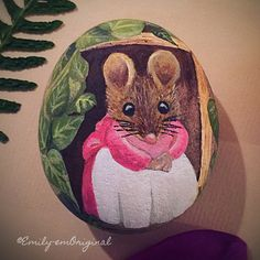 Emilyemoriginal my hand-painted Beatrix Potter inspired painted rock/stone. #paintedrocks #paintedstones #beatrixpotter
