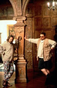 """The Big Lebowski"". Jeff Bridges and John Goodman shown."
