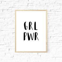 GRL PWR by GRAYAESTHETIC on Etsy
