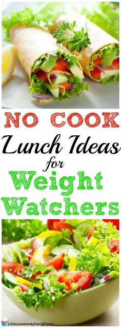 Easy No Cook Lunch Ideas for Weight Watchers &; Life is Sweeter By Design Easy No Cook Lunch Ideas for Weight Watchers &; Life is Sweeter By Design Amy Tweedy Weightwatchers These easy […] cook lunch ideas Lunch Meal Prep, Healthy Meal Prep, Healthy Snacks, Healthy Recipes, Healthy Eating, Breakfast Healthy, Lunch Snacks, Healthy Weight, Healthy Life