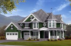 House Plan 87679 | Farmhouse  Victorian    Plan with 4060 Sq. Ft., 4 Bedrooms, 4 Bathrooms, 3 Car Garage
