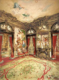 The Gobelin Tapestries, Linderhof Palace, Upper Bavaria, Germany, ca. 1895 | par trialsanderrors