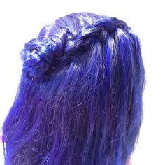 Blue Waterfall Braid. @twirlsandcurlshd       Titanium Studios, Vancouver BC Curls Hair, Curled Hairstyles, Hair Designs, Vancouver, Studios, Waterfall, Braids, Long Hair Styles, Street