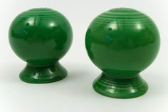 salt+and+pepper+shakers+for+sale   ... and Pepper Shakers in Original Original Medium Green Glaze For Sale