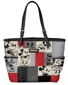 Disney Discovery- Mickey and Minnie Mouse Patch Work Tote