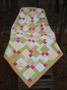 Hey, I found this really awesome Etsy listing at https://www.etsy.com/listing/119875504/green-and-yellow-baby-lap-quilt