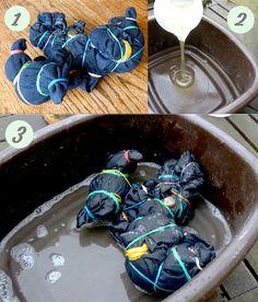 How to Tie Dye Jeans. #DIY #Fashion