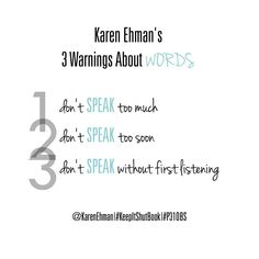 Karen Ehman's 3 Warnings About Words . . . *Which of these do you struggle with most? We'd love to hear from you fellow #P31OBS Pinterest friends! #KeepItShutBook