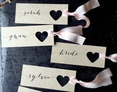 Wedding place cards Wedding Name Tags Place von LaPommeEtLaPipe