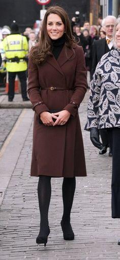 Kate Middleton - nice full length shot of the Hobb coat