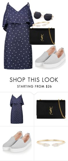 """Untitled #590"" by dreamer3108 on Polyvore featuring WithChic, Yves Saint Laurent, Topshop and Kendra Scott"