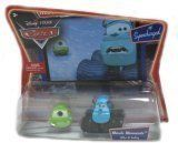 Cars Movie Moments: Mike & Sully by Mattel. $19.95. The perfect sets for CARS fans. Based on characters and scenes from the hit Disney/Pixar film CARS. Hard to find Cars not available in other mixes. A favorite with collectors and enthusiasts alike. Relive the friendship and fun with the film's heroes, beloved locals and world-class hot rods!. From the Manufacturer                Your favorite characters from the hit Disney/Pixar movie CARS, are available in new collectible die-c...