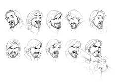 Knight expressions by ~javieralcalde on deviantART #sketching