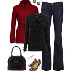 Red+Black+Leopard, created by jill-hammel on Polyvore