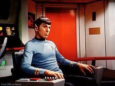 """Elaan of Troyius"" Star Trek TOS 1968 Leonard Nimoy Spock First Officer Nims Sci Fi Tv Series, Star Trek Original Series, Leonard Nimoy, Star Trek Tos, Spock, S Star, Science Fiction, Nerd, Fandom"