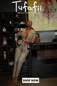 African Print Clothing, African Print Fashion, Fashion Prints, Fashion Design, African Print Pants, African Prints, African Attire, African Wear, African Women