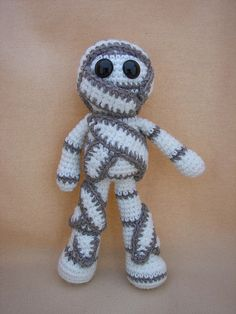 Mumford Mummy Crochet Amigurumi Pattern by CraftyDebDesigns, $2.98
