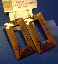Zeta Phi Beta Z Phi B 1920 Earrings for by AddiCakeCreations, $7.50