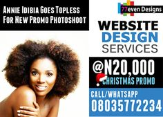 Annie Idibia Goes Topless For New Promo Photoshoot   Actress and mother of two, Annie Idibia puts her flawless skin on display as she promotes a skin line.  See Photos below:        Hmmmmmmmmm. >>> See More >>>http://u.to/ApCJDw  ***************  You need a presence on the web and a tailor-made website at affordable prices?  Now is the time to get great Website Design. Still at N20,000!!! Call/Whatsapp 08035772234