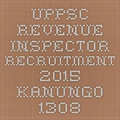 UPPSC Revenue Inspector Recruitment 2015 Kanungo 1308