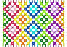 Normal friendship bracelet pattern added by sodapop. diamond square rows columns checkers checkerboard chain line flowers dots geometric rainbow diamonds squares. Diy Friendship Bracelets Patterns, Stuff To Do, Dots, Rainbow, Crafts, Handmade, Craft Ideas, Jewelry, Projects