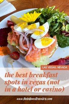Looking for the best places to eat breakfast and brunch during your Las Vegas vacation? Food lovers must check out this quick travel food guide on the best restaurants to visit OFF THE STRIP including Baby Birds Cafe, The Egg & I, Omelet House, Babystacks, The Bagel Cafe, Hash House A Go Go, the iconic Peppermill Restaurant, and more! www.thetattooedtravelers.com // Las Vegas Breakfast // Las Vegas Food // Best // Cheap // Budget // Off The Las Vegas Strip // #lasvegas #nevada #food Vacation Food, Vegas Vacation, Places To Eat Breakfast, Best Breakfast, Bagel Cafe, Las Vegas Food, Quick Travel, Fried Chicken And Waffles, Specialty Foods