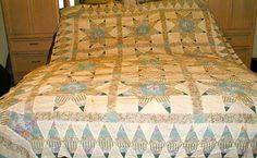 unique borders for quilts | Vintage Stars Galore Bed Quilt Top Pieced with Border Unique