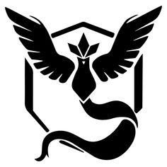 Pokemon Go Team Mystic Symbol Die Cut Vinyl Decal PV2019