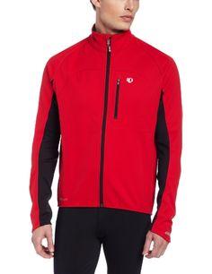 Pearl Izumi Men's Elite Softshell Jacket, Large, True Red/Black - http://ridingjerseys.com/pearl-izumi-mens-elite-softshell-jacket-large-true-redblack/