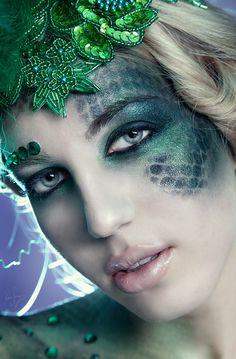 Beautiful makeup concept for shoot