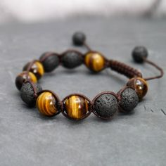 Tiger Eye 12mm Beaded bracelet