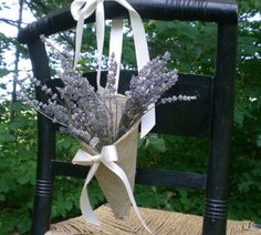 DECORATING WITH BURLAP AND LACE | Tell me what you think! I have one hanging around a door handle right ...