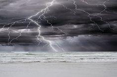 Ocean Storm Photography Oregon Cannon Beach Lightning Sea