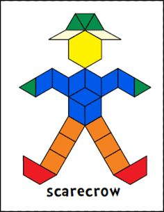Jessicas pattern block mats printables free great ideas for scarecrow pattern block mats mon and tues pm math station pronofoot35fo Choice Image