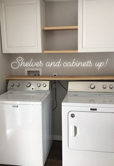 Laundry Room Remodel, Laundry Room Cabinets, Laundry Room Organization, Laundry Closet Makeover, Laundry Shelves, Laundry Room With Storage, Laundry Detergent Storage, Closet Storage, Ideas For Laundry Room