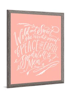Holiday art - Wild & Sweet canvas art by Lindsay Letters.
