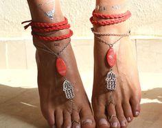 Women Barefoot Sandals wedding sandals Sea blue door ccfashionstr