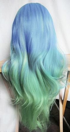 hair, hair color, blue hair, blue, green hair, green, multi-colored hair