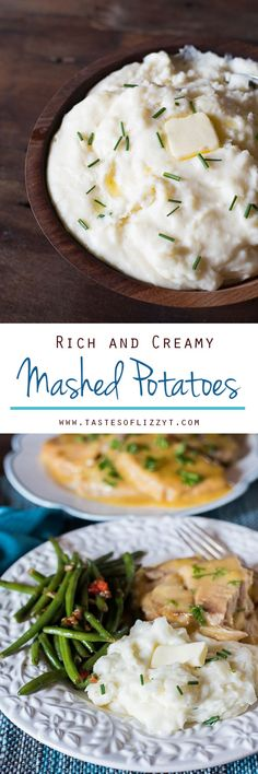 RICH AND CREAMY MASHED POTATOES Three key ingredients make up these rich and creamy mashed potatoes. You'll never make mashed potatoes another way again.