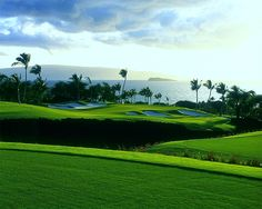Ever golfed in Hawaii? It's special. Do it. Wailea Golf Course - Maui.