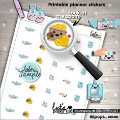 Bill Stickers Printable Planner Stickers Bill Due by LetsPaperUp